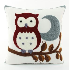 Christmas Owl Canvas Embroidery Snowman Sofa Cushion Cover Pillow Cover Chrismtmas Gifts Christmas Decoration