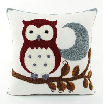 Christmas Owl Canvas Embroidery Snowman Sofa Cushion Cover Pillow Chrismtmas Gifts Decoration
