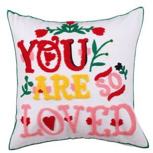 Christmas Valentine's Day Canvas Embroidery Snowman Sofa Cushion Cover Pillow Cover Chrismtmas Gifts Christmas Decoration C