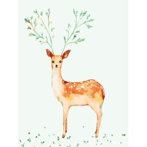 Modern Simple DIY Hand Panting DIY Oil Painting Deer Wall Art 40*50 C