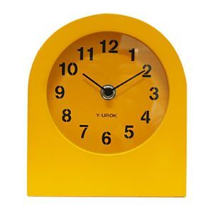 "6"" Modern Style Tabletop Clock in Orange"