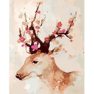 Modern Simple DIY Hand Panting DIY Oil Painting Deer Wall Art 40*50