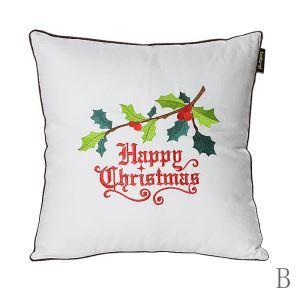 Christmas Silk-like Embroidered Pillow Sofa Cushions