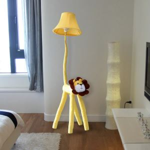 Modern Simple Cartoon Lion Cloth Floor Lamp