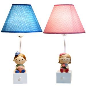 Modern Simple Creative Modeling Doll Lamp Linen Lampshade