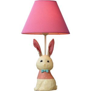 Modern Simple Creative Cloth Ears Rabbit Lamp Table Linen Shade(Easter Bunny)