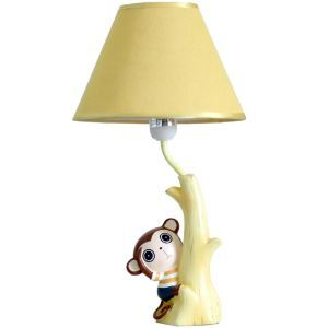 Modern Simple Creative Lovely Monkey Table Lamp Linen Shade