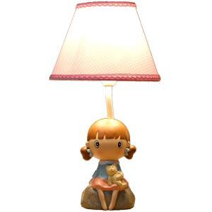Modern Simple Korean Girl Modeling Table Lamp Linen Shade