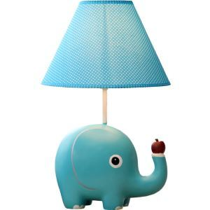 Modern Simple Cartoon Elephant Modeling Table Lamp Linen Shade