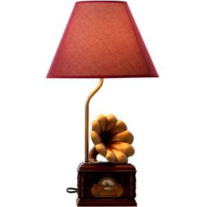 Modern Simple Creative Phonograph Modeling Table Lamp Linen Shade