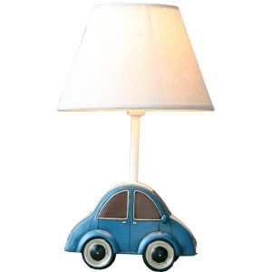 Modern Simple Car Styling Table Lamp Linen Shade