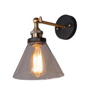 American Village Creative Glass Funnel Single Head Wall Light