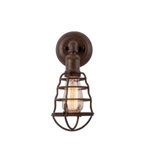 American Village Industry Retro Iron Single Head Cage Wall Light