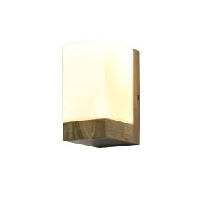 American Retro Personality RH Simple Style Oak Side Sugar Single Head Wall Light Glass Lampshade
