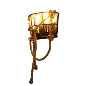 American Retro Industrial Style Iron Craft Two Lights Wall Light