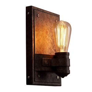 (In Stock)American Village Retro Style Iron Craft Single Head Wall Light