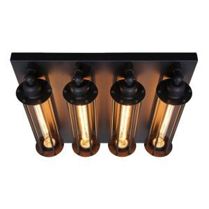 American RH Loft Industrial Retro Personality Style Iron Craft Four Alcatraz Island Wall Light