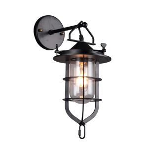 American Retro Industrial Style Iron Craft Single Dockside Wall Light