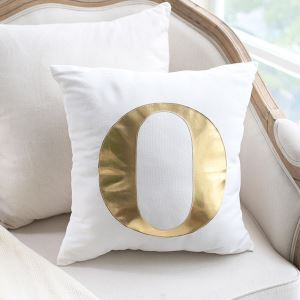 Creative Viscount Bright Gold Leather Sofa Pillow Cover Home Fabric Car Cushion Viscount Love Pillow Cover single O Pillow Cover