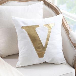 Creative Viscount Bright Gold Leather Sofa Pillow Home Fabric Car Cushion Viscount Love Pillow single V Pillow