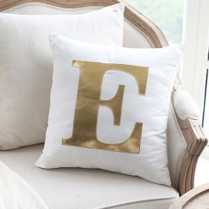 Creative Viscount Bright Gold Leather Sofa Pillow Home Fabric Car Cushion Viscount Love Pillow single E Pillow