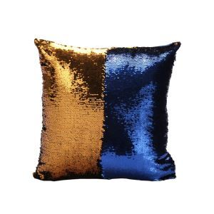 Mermaid Pillow Gold/Blue Change Color Sequins Cushion Inverted Flip Sequin Pillow