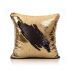 Show details for (In Stock) Mermaid Pillow Cover Gold/Black Change Color Sequins Cushion Inverted Flip Sequin Pillow Cover