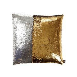 Mermaid Pillow Gold/Silver Change Color Sequins Cushion Inverted Flip Sequin Pillow