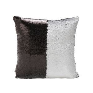 (In Stock) Mermaid Pillow Black/White Change Color Sequins Cushion Inverted Flip Sequin Pillow