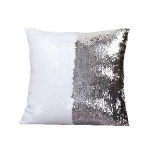 Mermaid Pillow Silver/White Change Color Sequins Cushion Inverted Flip Sequin Pillow