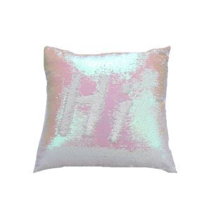 Mermaid Pillow Champagne/White Change Color Sequins Cushion Inverted Flip Sequin Pillow
