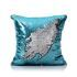Show details for (In Stock) Mermaid Pillow Blue/Silver Change Color Sequins Cushion Inverted Flip Sequin Pillow