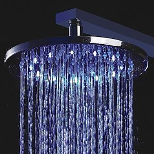 10 inch Color Changing LED Shower Head with Circle LED Light