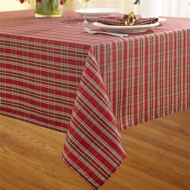... Home Textiles   Kitchen U0026 Table Linens   Table Cloth   Festive New Year  Plaid Western