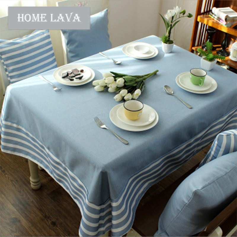 Coffee Table Linen Part - 24: ... Home Textiles - Kitchen U0026 Table Linens - Table Cloth - Mediterranean  Blue-gray Literary ...