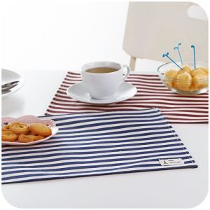 Cloth Dinning Table Pad Cotton and Linen Anti-water Pad Creative Insulation Pad Coasters(4 pcs)