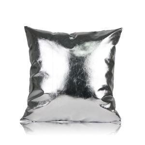 Post Modern Metallic Color Sofa Cushion PU Soft Pillow Cover Car Cushion Office Pillow Cover 45*45cm