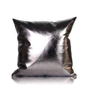 Post Modern Metallic Color Sofa Cushion PU Soft Pillow Car Cushion Office Pillow 50*50cm