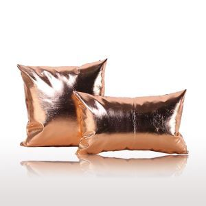 Post Modern Metallic Color Sofa Cushion PU Soft Pillow Car Cushion Office Pillow 30*50cm