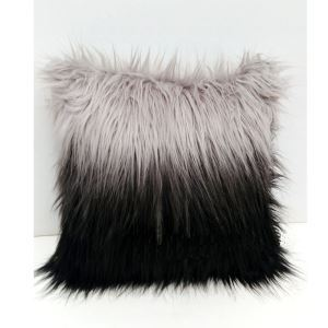 Faux Fur Gradient Long Gross Pillow Cover Sided Hanging Dye Flame Retardant Fabric Fur Cushions