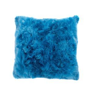 Faux Fur Pillow Cover Bright Blue Faux Fox Fur Pillow Cover Car Pillow Cover 45*45cm