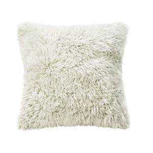 Faux Beach Wool Long Curly Gross Pillow Cover Sided