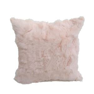 Genuine Fur Pillow Cover Rabbit Fur Pillow Cover Car Pillow Cover Fur Pillow Cover