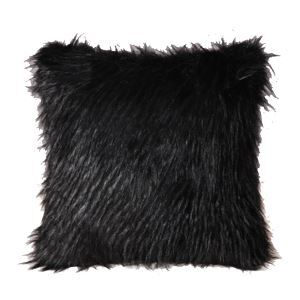 Luxury Plush Fur Household Faux Fur Pillow Black Plush