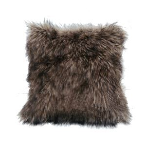 Luxury Fur Pillow Luxury Pillow Cover Office Bedding Faux Raccoon Fur Extra Thick Sided