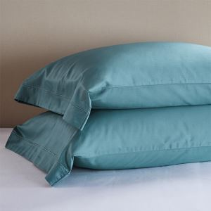 Embroidery Side Pillowcases Envelopes Pillowcases 60S Satin Pillowcases Solid Color Pillowcase (a pair)