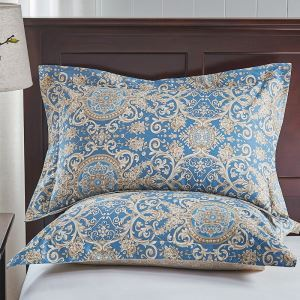 Cotton Pillowcase Cotton Printing Pillowcase Single Pillowcase 48 * 74cm(a pair)