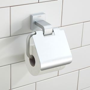 Modern Anodizing Finish Aluminum Wall Mount Toilet Roll Holder