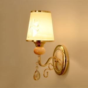 Contemporary Graceful Wall Sconce Features Polished Chrome Finish Iron Canopy and Clear Crystal Bobeche and Drop