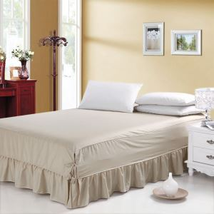 Modern Simple Bedding 100% Pure Cotton Bed Skirt 150*200cm